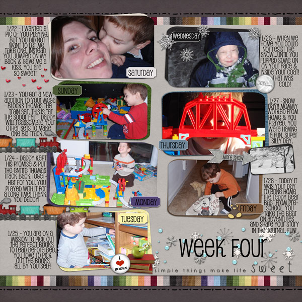 A Year in the Life of Gabe Week 4
