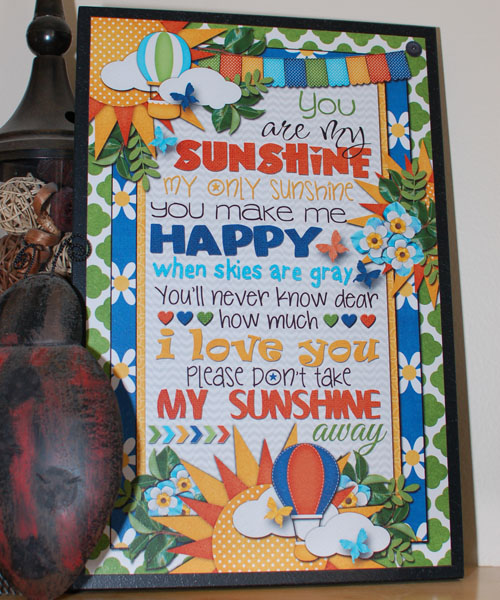 you are my sunshine 12x18 plaque