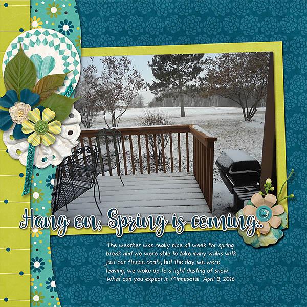 Spring Break Snow