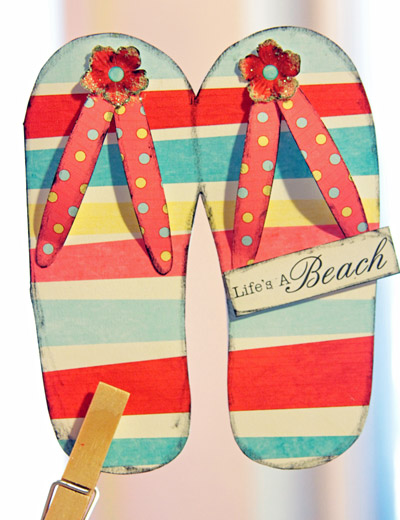 Flip Flop Greeting Card