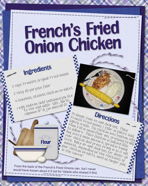 French's Fried Onion Chicken
