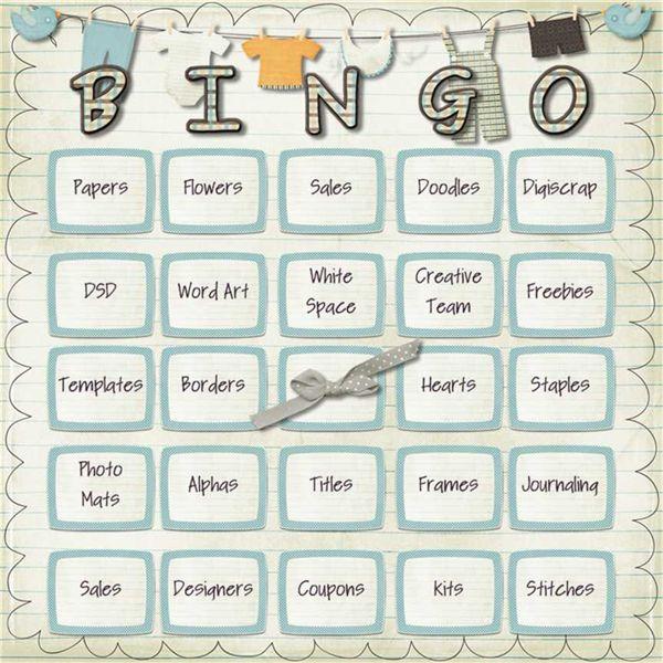 DSD Bingo Card