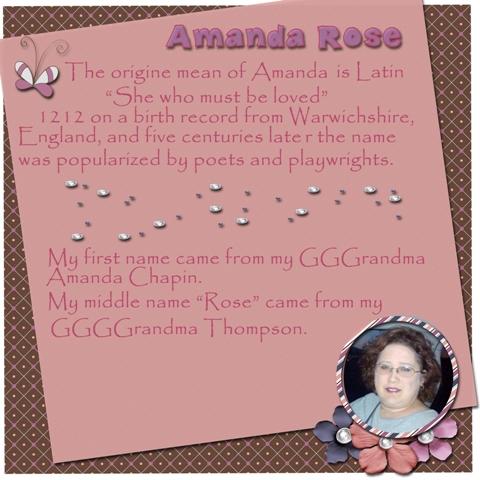 Amanda Rose ~ Inspiration Challenge