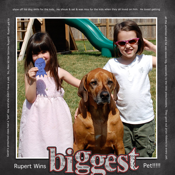 Rupert Wins BIGGEST Pet!