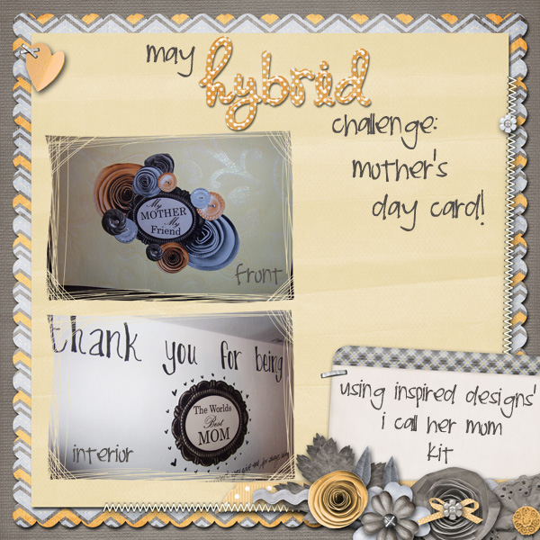 May Hybrid Challenge: Mother's Day card!