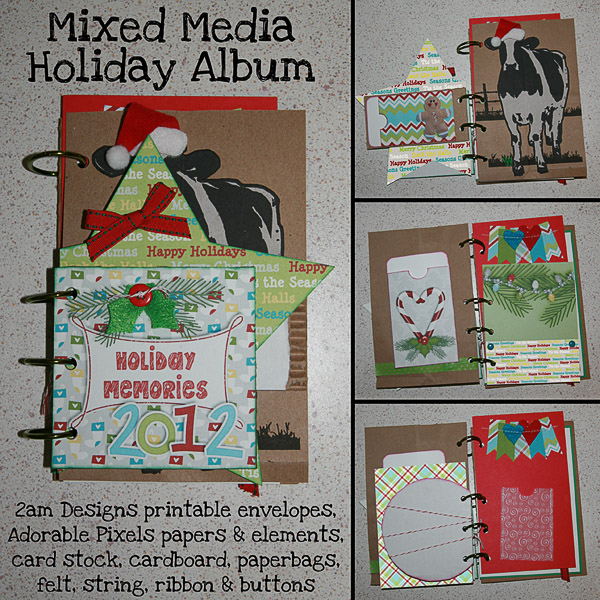 Mixed Media Holiday Album
