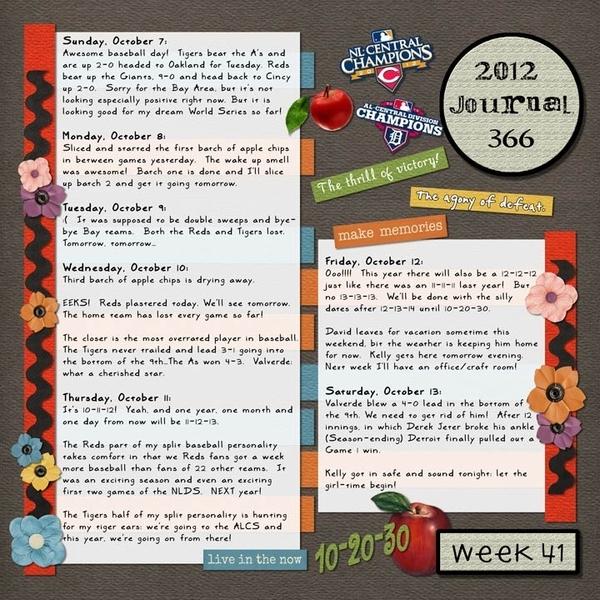 Journal 366, Week 41