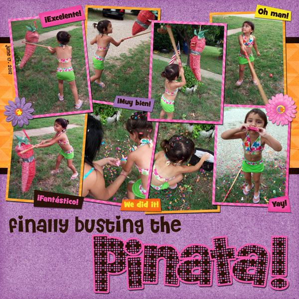 finally busting the pinata!