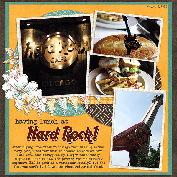 having lunch at Hard Rock!