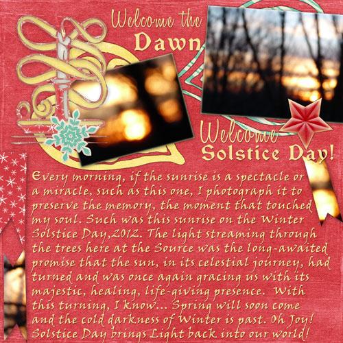 Welcome Solstice!