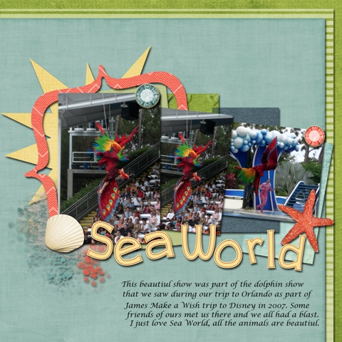 Sea World - Sept Color Challenge