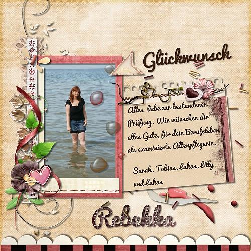 Glückwunsch Rebekka