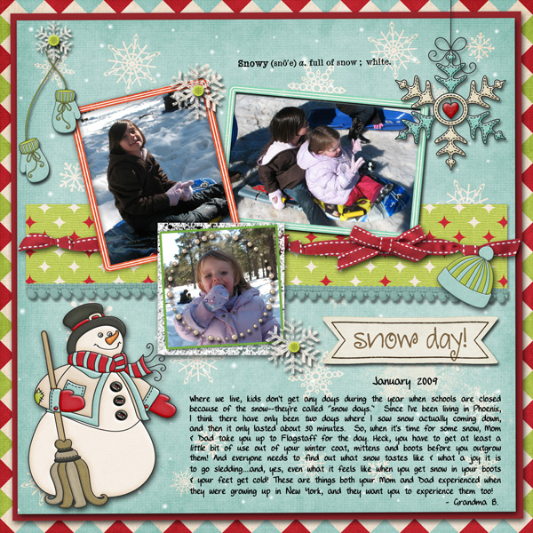 Snow Day-Dec. Mini Challenge