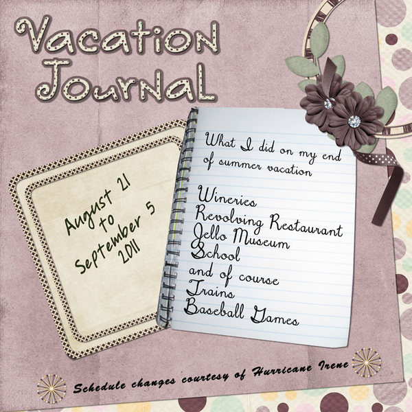Vacation Journal Cover