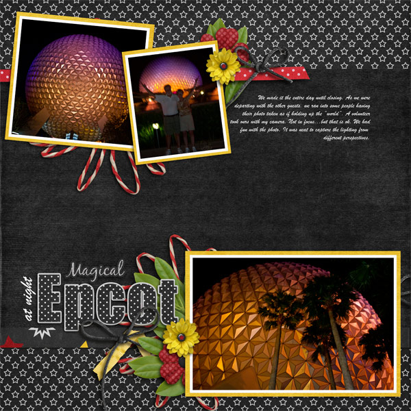 SS- Magical Epcot at nigh