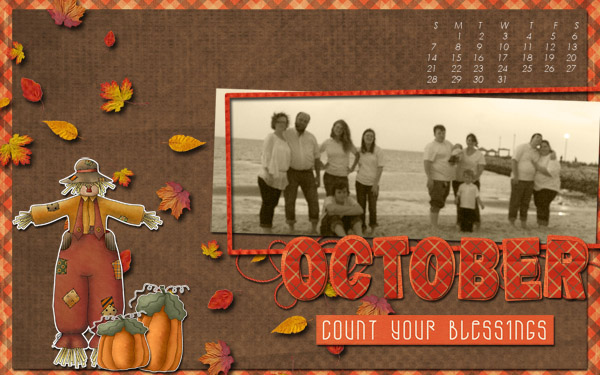 Oct desktop for my Sister