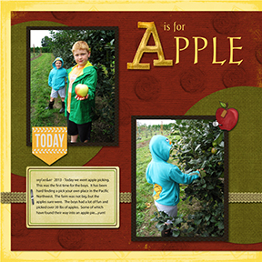 Slow Scrap 9/21 - A is for Apple