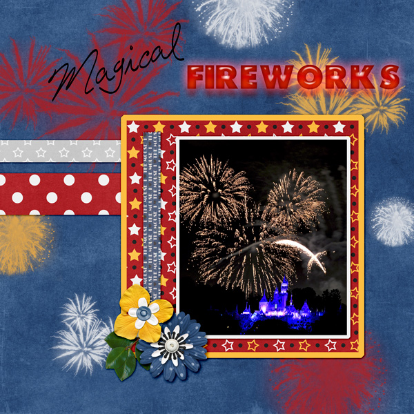Magical Fireworks July brush challenge