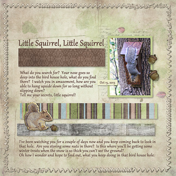Little Squirrel, Little Squirrel,