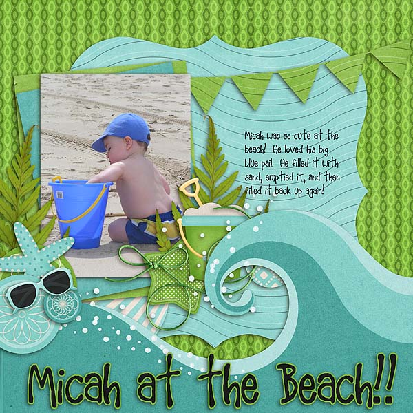 Micah at the Beach