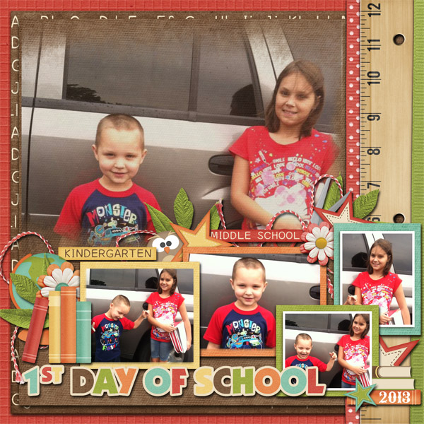 1st day of school for two of my grands