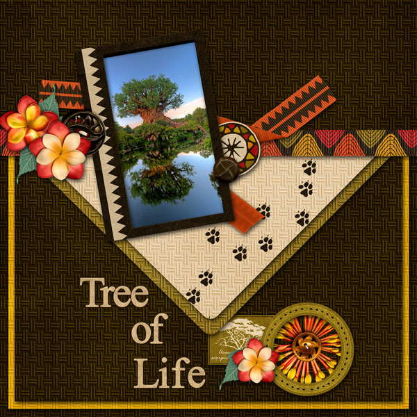 "Scraplift Challenge: Sept  ""Tree of Life"""