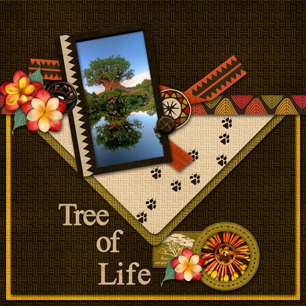 "Scraplift Challenge: Sept  ""Tree of Life"""