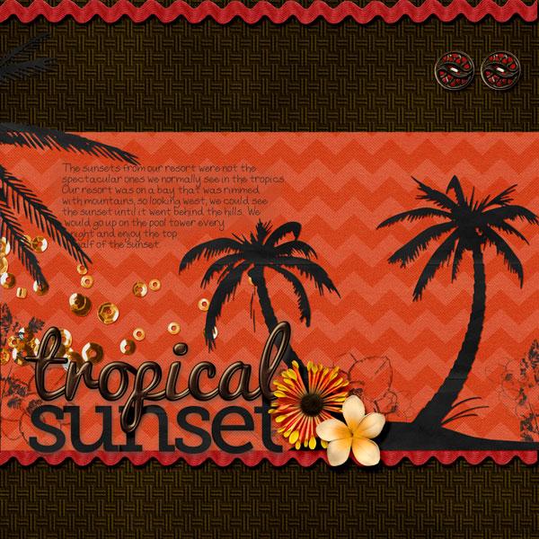 tropical sunset