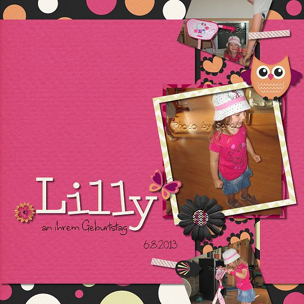Lilly an ihrem Geburtstag