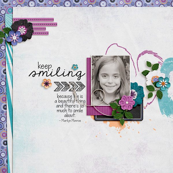 Keep Smiling Layout by Carrin