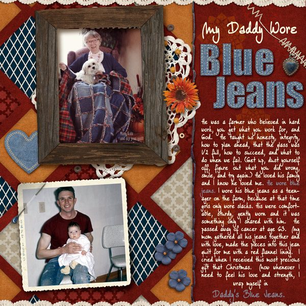 My Daddy Wore Blue Jeans