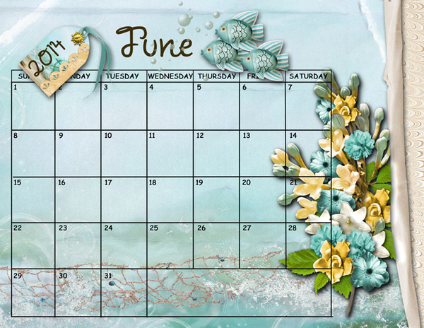 June Sum Up Calendar