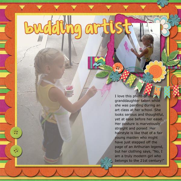 budding artist