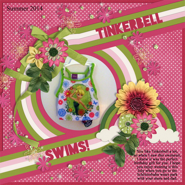 Tinkerbell swims too!