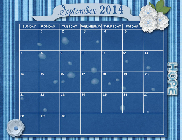 September Sum Up Calendar