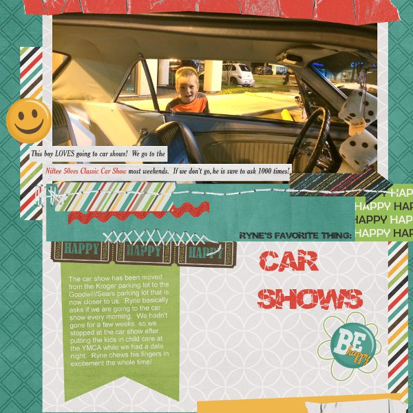 Template Challenge #1 August - Car Show