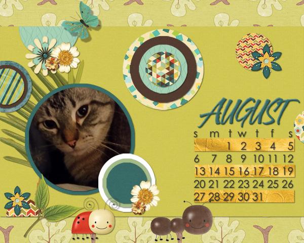Aug desktop calendar