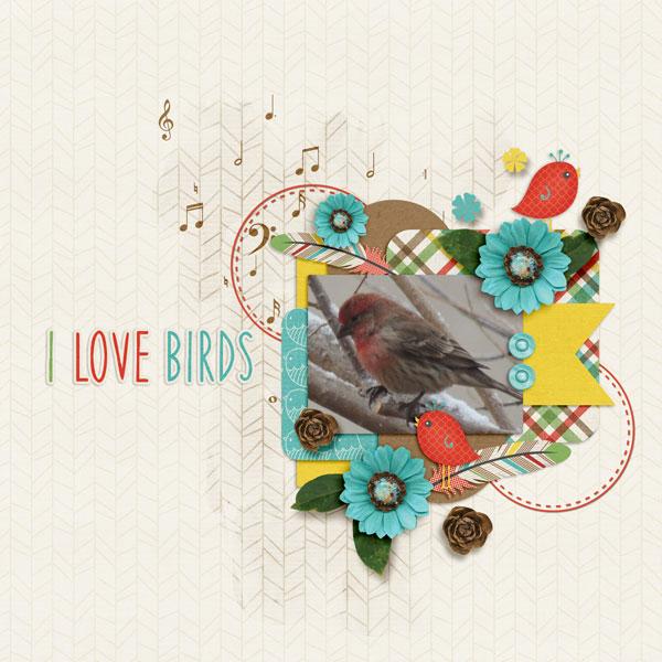 I Love Birds - Feb brush challenge