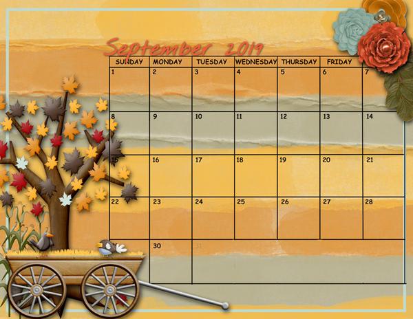 September Sum-Up Calendar