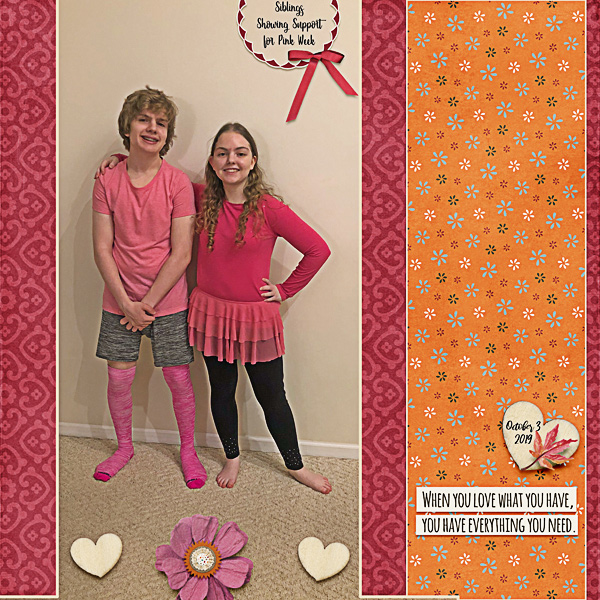 Siblings Supporting Pink Week