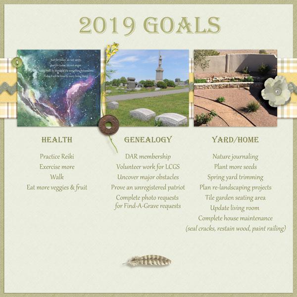 2019 Goals - Feb DDL challenge