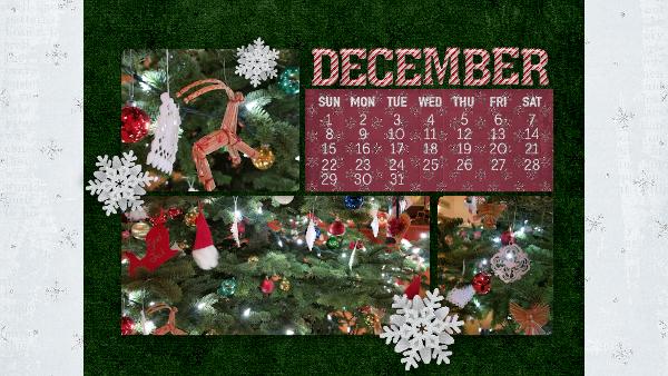 Lodge Christmas Tree December 2019 Desktop Calendar