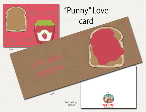 """""""Punny"""" Love Card"""