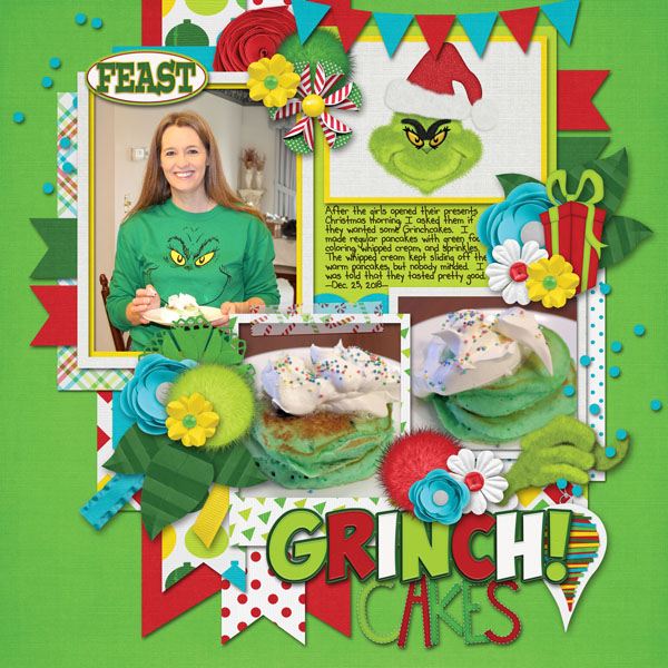 Grinch Cakes