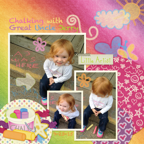 Chalking with Great Uncle Jerry