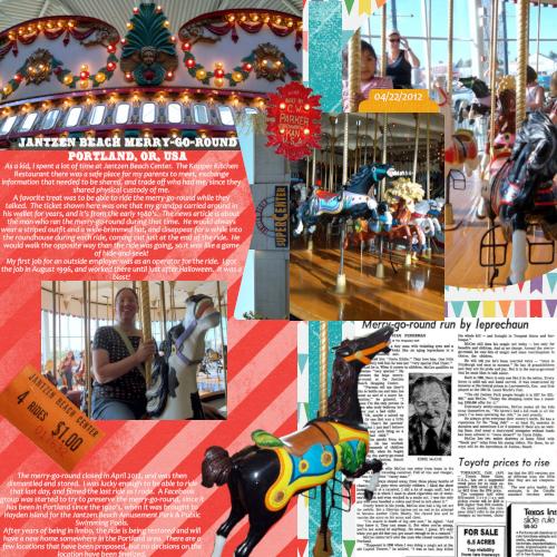 Jantzen Beach Merry-Go-Round:  First Job