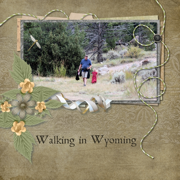 Walking in Wyoming