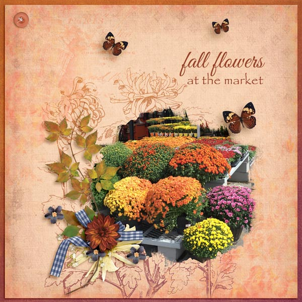 fall flowers - Sep Brush challenge