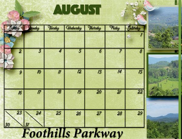 August Calendar -- Desktop