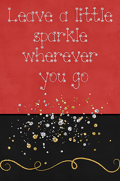 Sparkle - Greeting Card front